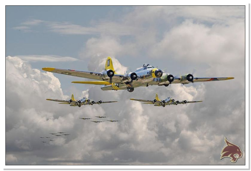 Boeing B-17 G Flying Fortress, 486th Group Bomber 1944 - Academy 1/72 Ref06