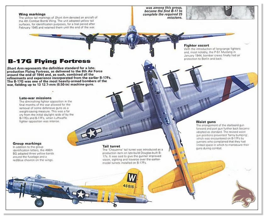Boeing B-17 G Flying Fortress, 486th Group Bomber 1944 - Academy 1/72 Ref07
