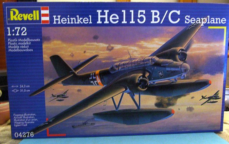 "Heinkel He 115 A-0 ""Base Pollensa - Mallorca"" Guerra Civil Española / Revell 1/72 Caja"