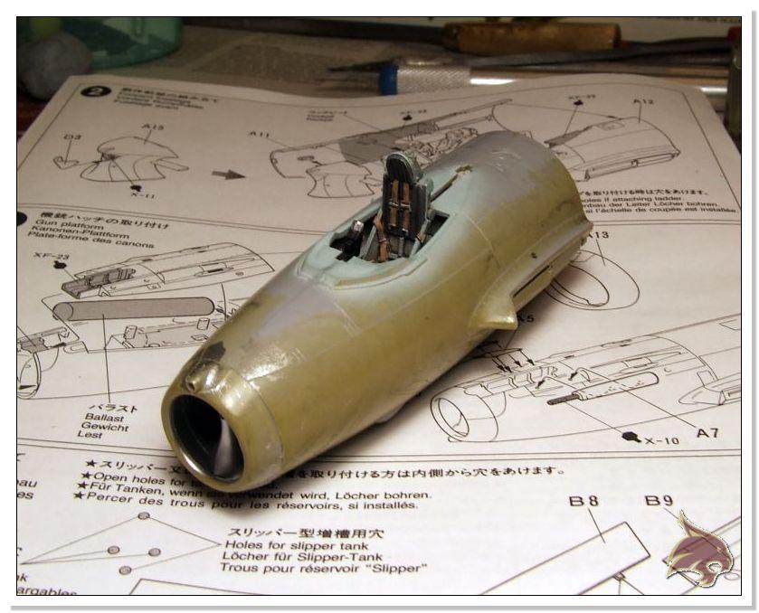 Mikoyan Gurevich MiG 15 Bis - Tamiya 1/48 Proceso11