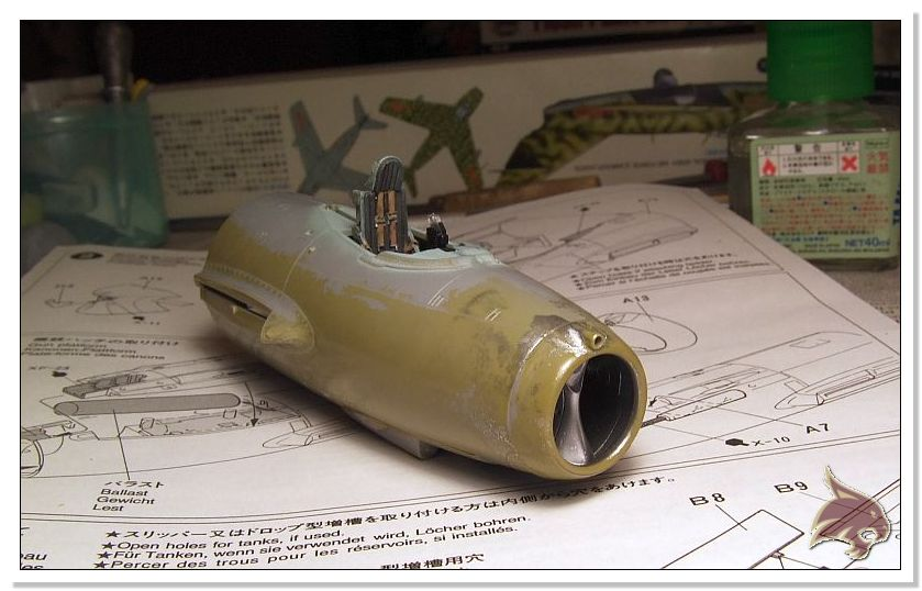 Mikoyan Gurevich MiG 15 Bis - Tamiya 1/48 Proceso12