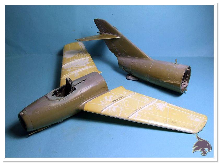 Mikoyan Gurevich MiG 15 Bis - Tamiya 1/48 Proceso16