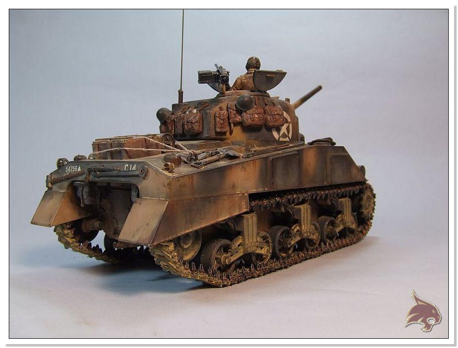 "Monte Casino 1944 - Sherman 1/35 Tamiya ""Restaurado"" Finales03"