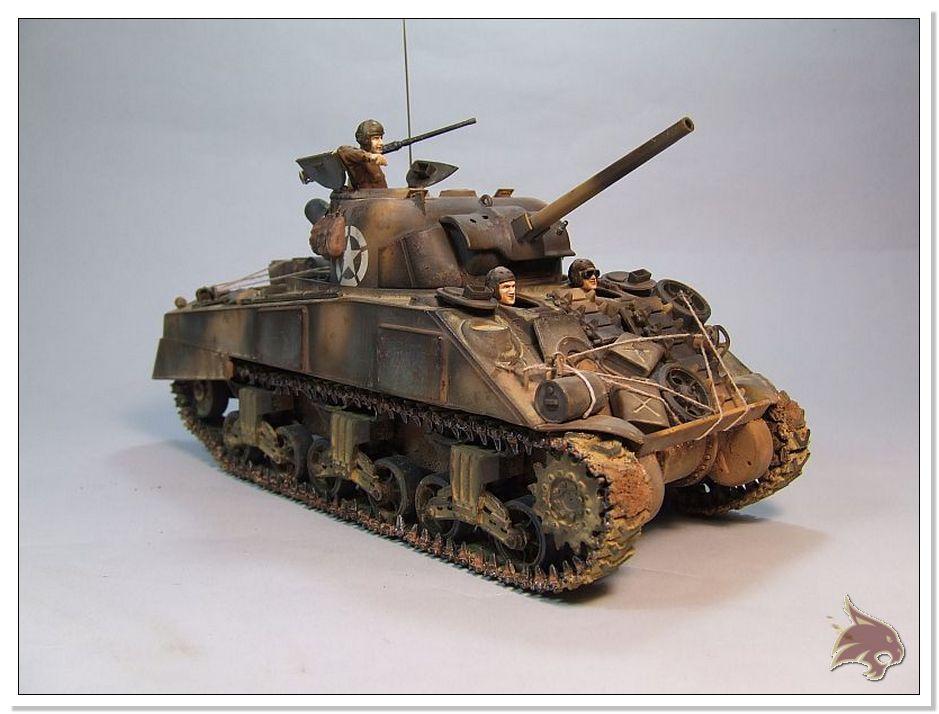 "Monte Casino 1944 - Sherman 1/35 Tamiya ""Restaurado"" Finales05"