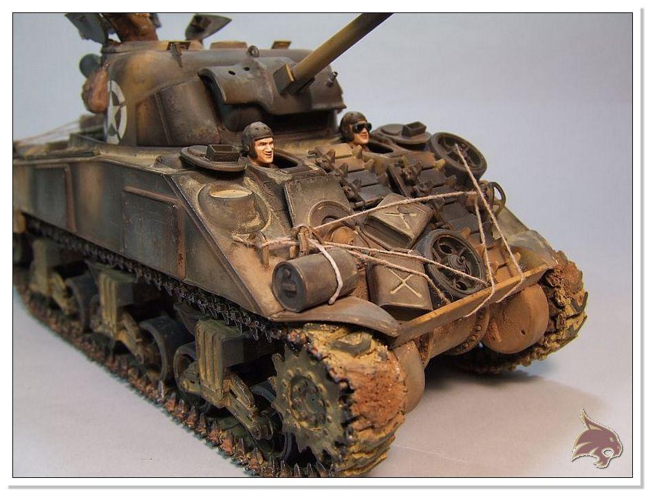 "Monte Casino 1944 - Sherman 1/35 Tamiya ""Restaurado"" Finales06"