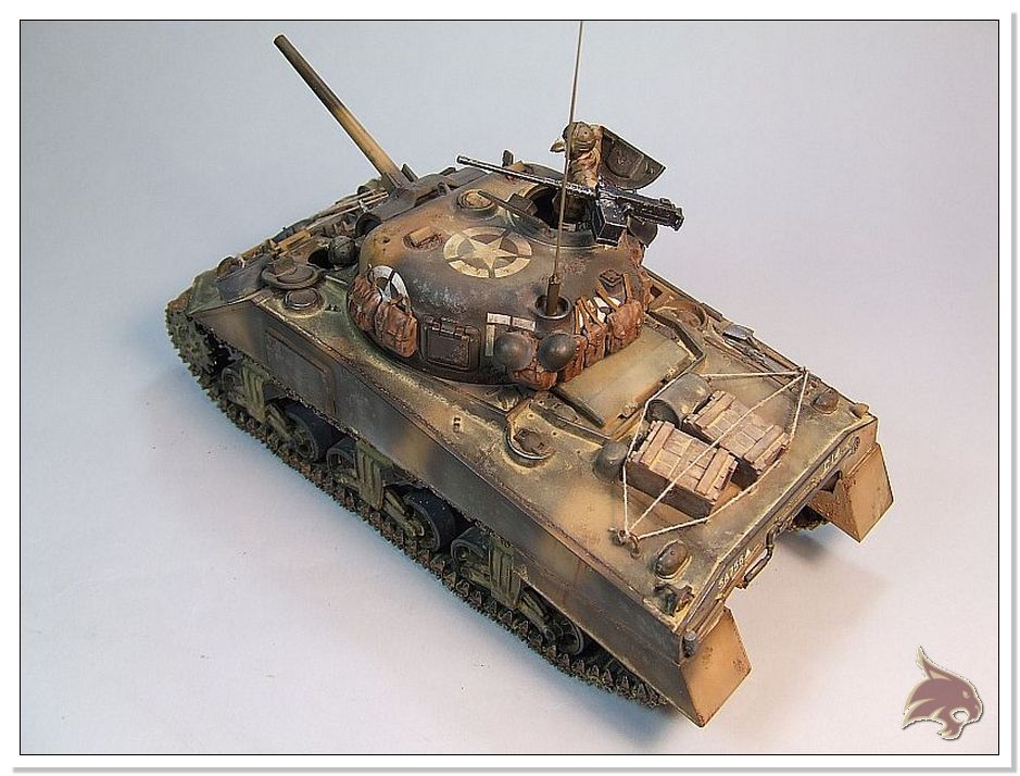"Monte Casino 1944 - Sherman 1/35 Tamiya ""Restaurado"" Finales09"