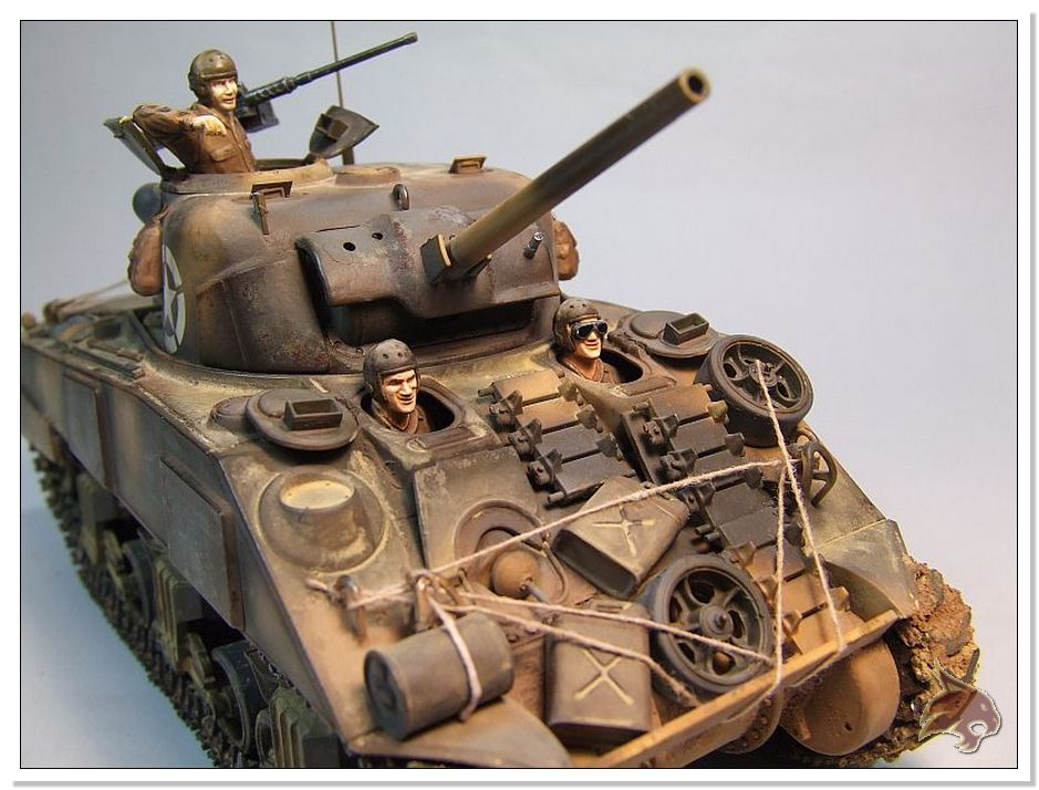 "Monte Casino 1944 - Sherman 1/35 Tamiya ""Restaurado"" Finales15"