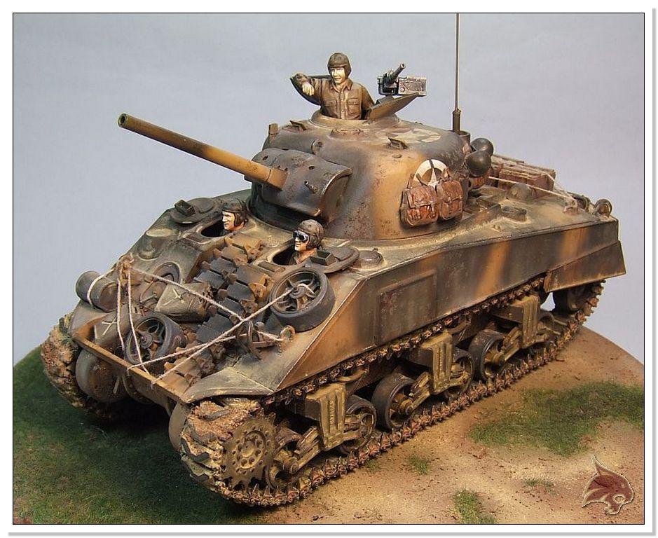 "Monte Casino 1944 - Sherman 1/35 Tamiya ""Restaurado"" Finales19"