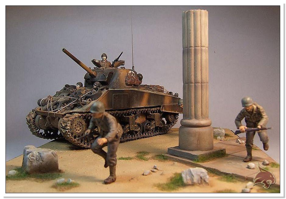 "Monte Casino 1944 - Sherman 1/35 Tamiya ""Restaurado"" Finales21"