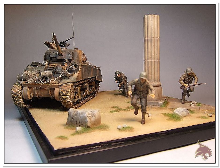 "Monte Casino 1944 - Sherman 1/35 Tamiya ""Restaurado"" Finales22"