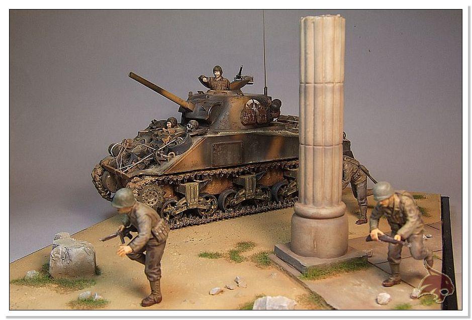 "Monte Casino 1944 - Sherman 1/35 Tamiya ""Restaurado"" Finales23"