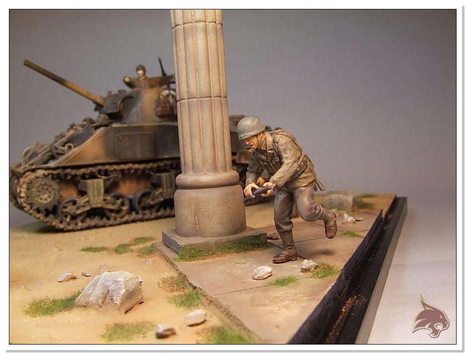 "Monte Casino 1944 - Sherman 1/35 Tamiya ""Restaurado"" Finales24"