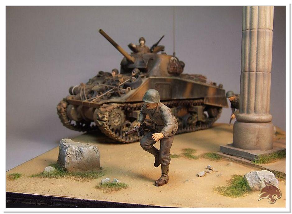 "Monte Casino 1944 - Sherman 1/35 Tamiya ""Restaurado"" Finales25"