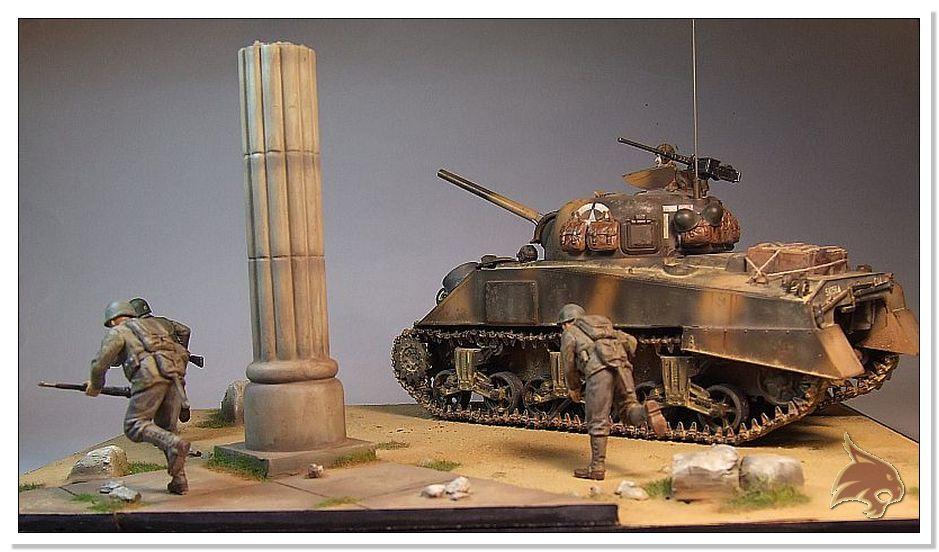 "Monte Casino 1944 - Sherman 1/35 Tamiya ""Restaurado"" Finales26"
