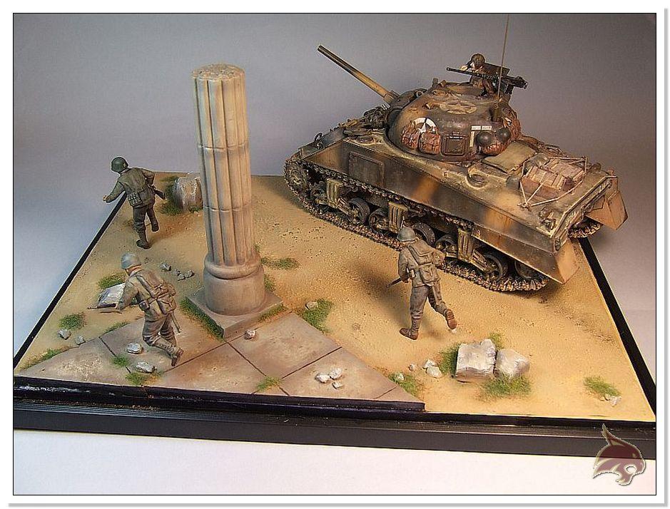 "Monte Casino 1944 - Sherman 1/35 Tamiya ""Restaurado"" Finales27"