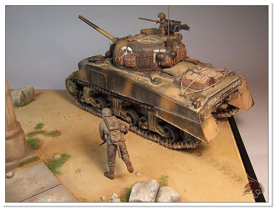 "Monte Casino 1944 - Sherman 1/35 Tamiya ""Restaurado"" Finales28"