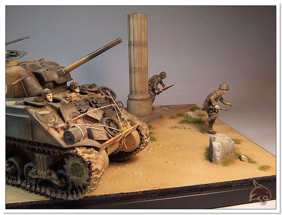 "Monte Casino 1944 - Sherman 1/35 Tamiya ""Restaurado"" Finales30"