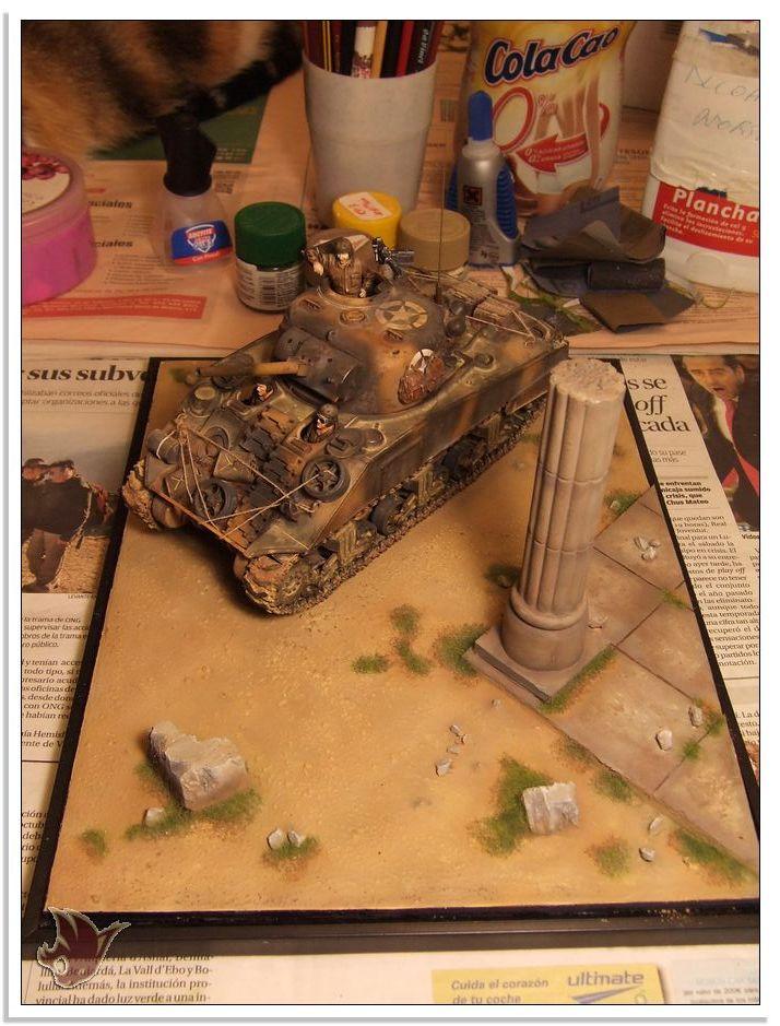 "Monte Casino 1944 - Sherman 1/35 Tamiya ""Restaurado"" Peanat15"