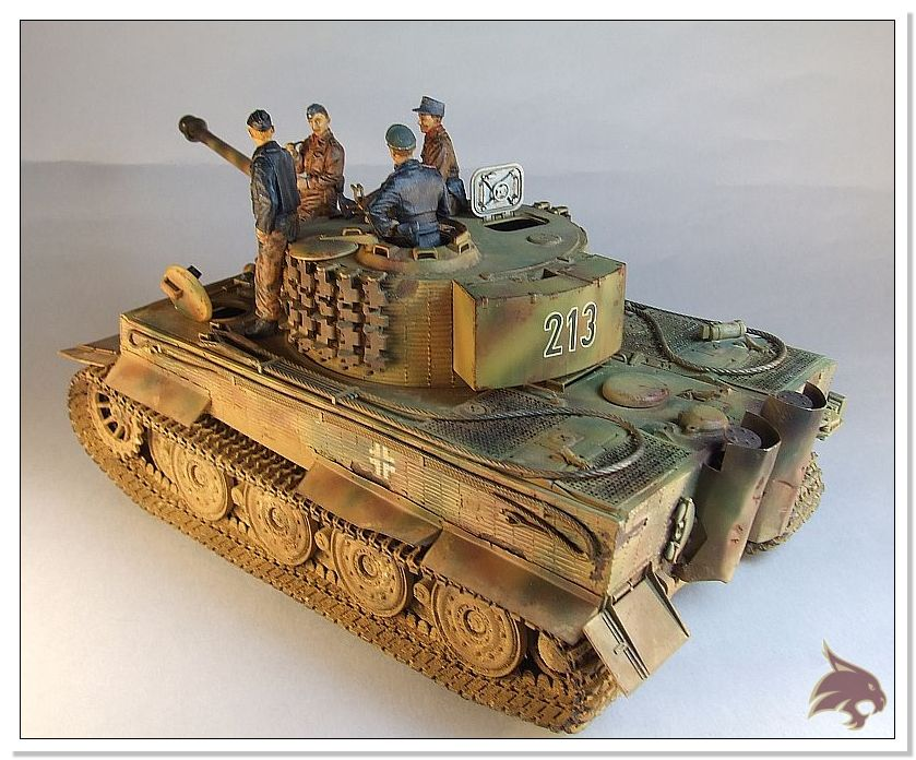 Tiger I Pkf VI Ausf.E Late Version - 4 figuras - Tamiya 1/35 05