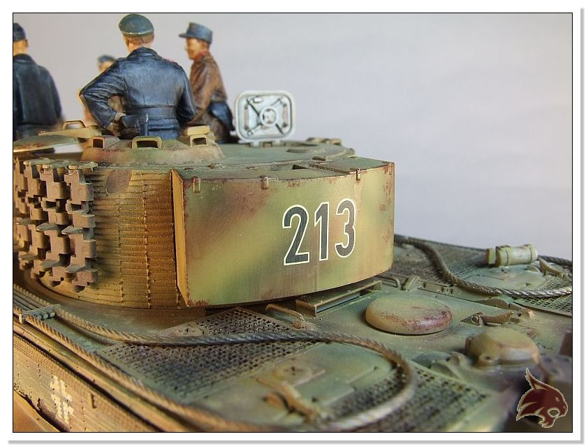 Tiger I Pkf VI Ausf.E Late Version - 4 figuras - Tamiya 1/35 06