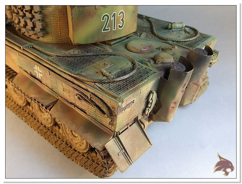 Tiger I Pkf VI Ausf.E Late Version - 4 figuras - Tamiya 1/35 07
