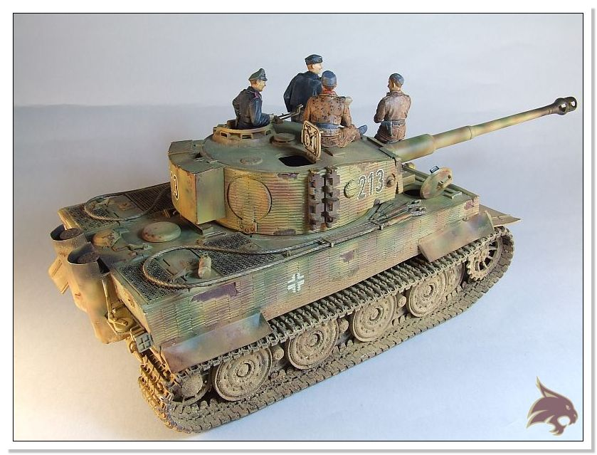 Tiger I Pkf VI Ausf.E Late Version - 4 figuras - Tamiya 1/35 10