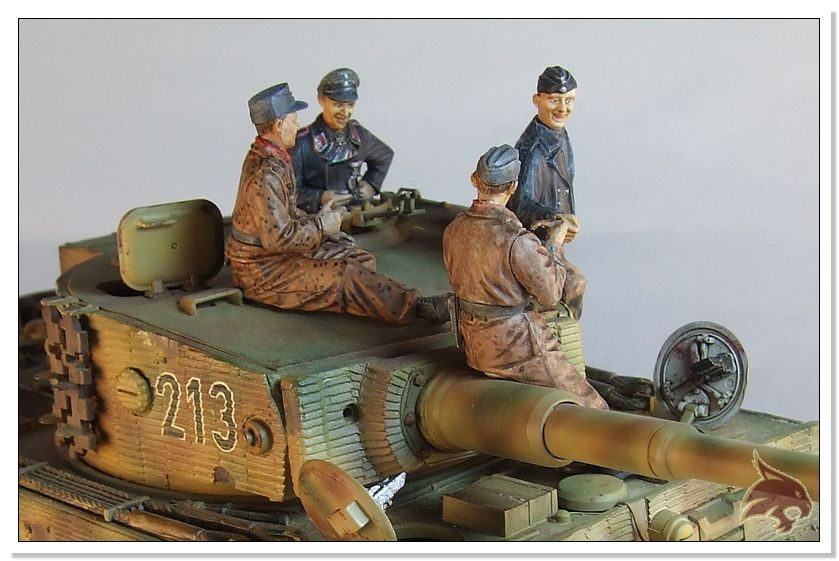 Tiger I Pkf VI Ausf.E Late Version - 4 figuras - Tamiya 1/35 15